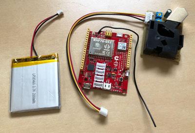 Arduino/LoRaWAN-based pollution sensor