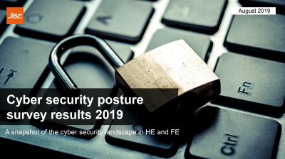 Front page of the cyber security posture report 2019
