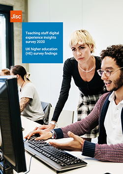 Front cover of the teaching staff digital experience insights survey 2020: UK higher education