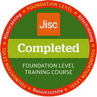 Jisc digital credential badge - completed