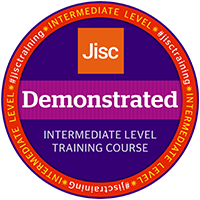 Jisc digital credential badge - demonstrated