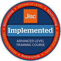 Jisc digital credential badge - implemented