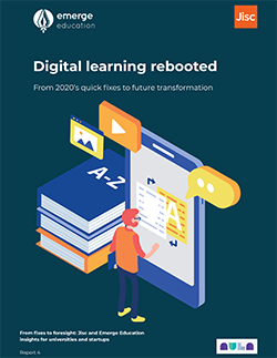 Front cover of digital learning rebooted report