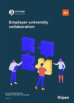 Front cover of the employer-university collaboration report