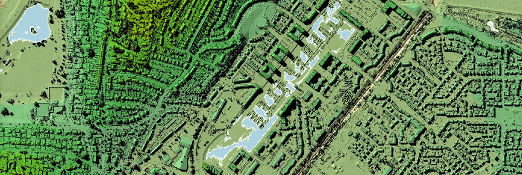 Creative Commons attribution information Environment Agency LIDAR image of the Nailsea area