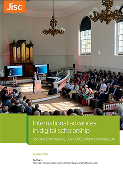 International advances in digital scholarship - report front cover