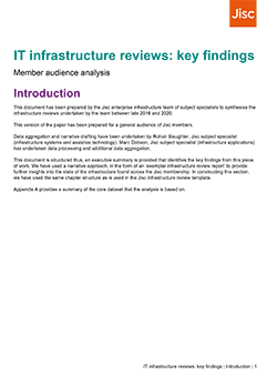 Front cover of IT infrastructure review report