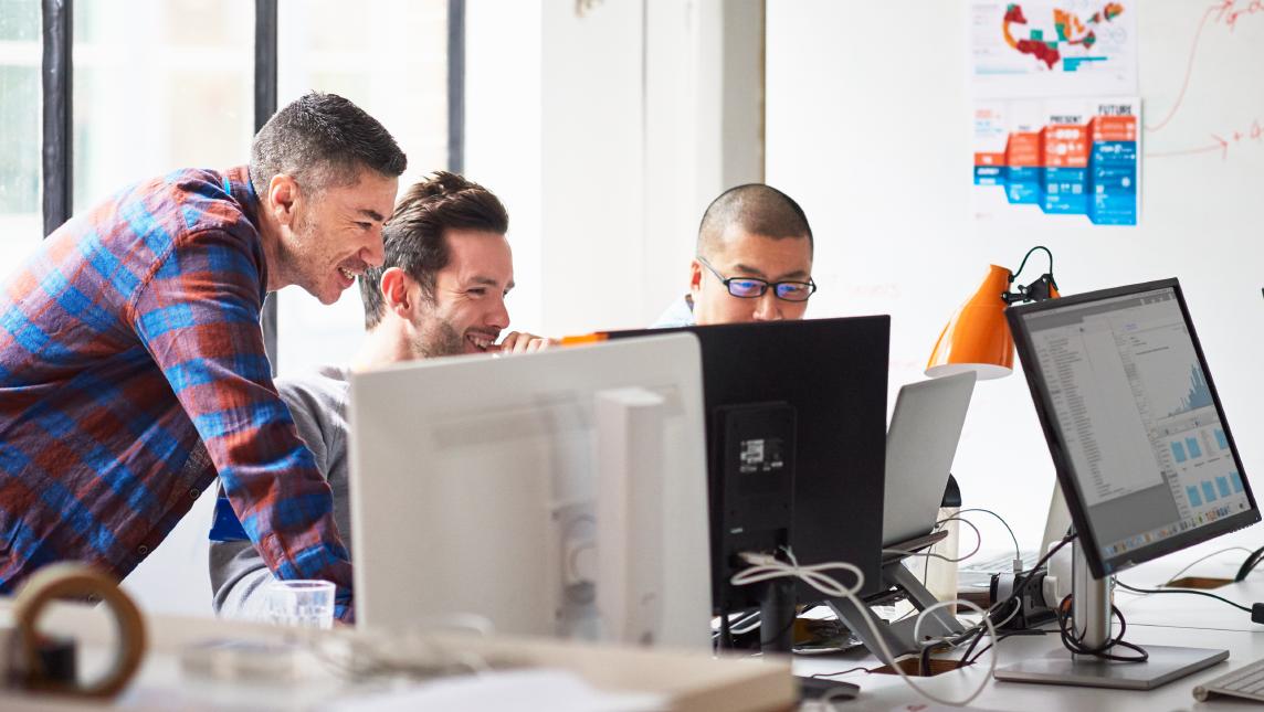 IT team collaborating