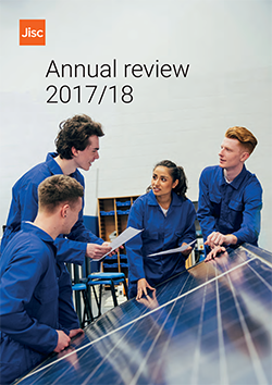 Jisc annual review 2017/18 front cover