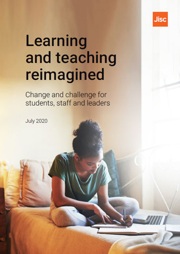 Front cover of the learning and teaching reimagined interim report