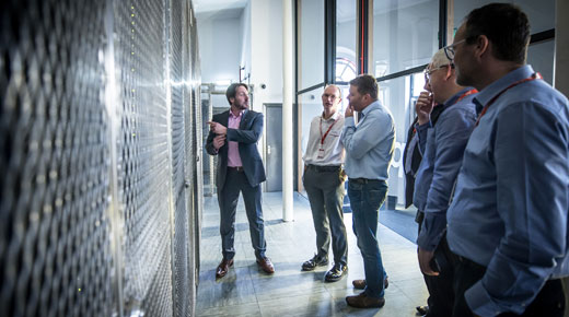 Northern data centre partners visiting the new centre