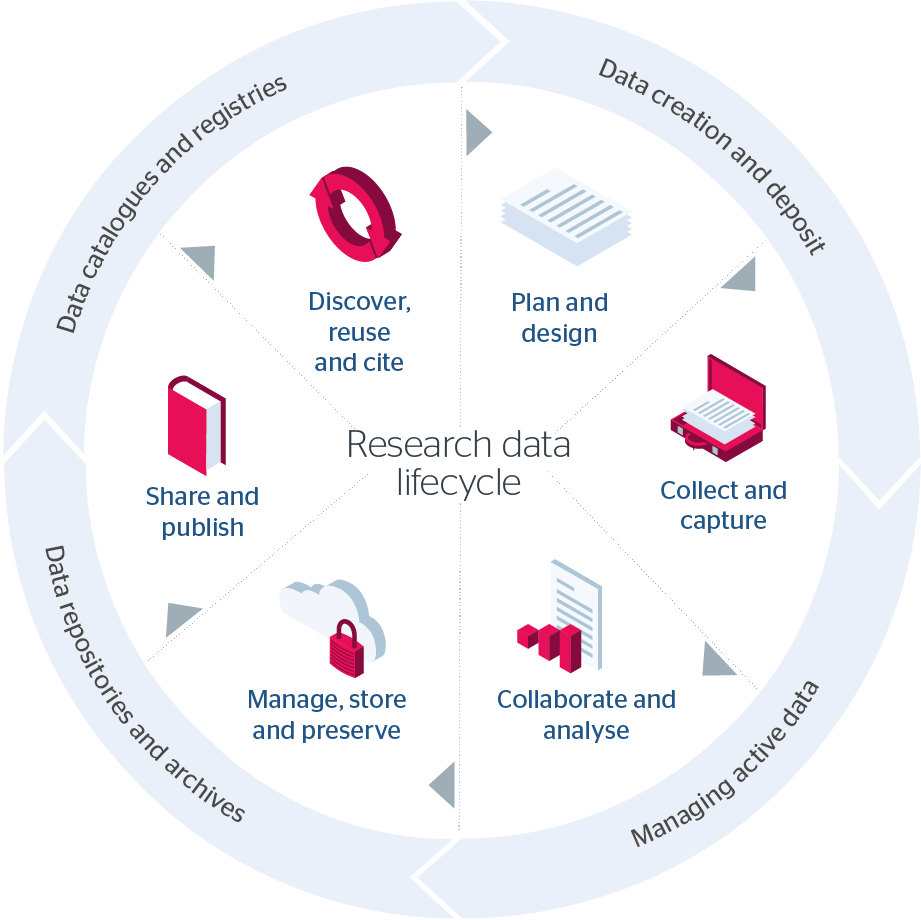 Research data management lifecycle