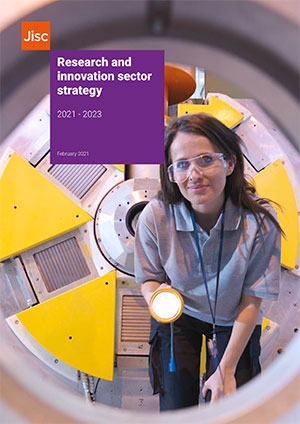 Jisc research and innovation sector strategy front cover