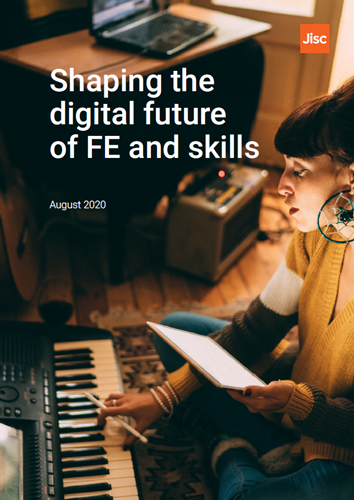 Shaping the digital future of FE and skills report cover