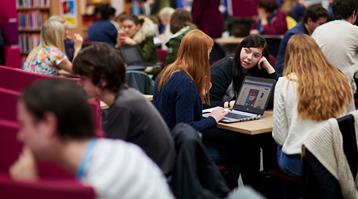 Students in library at North Lindsey College