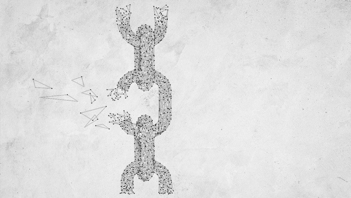 Broken chain illustration