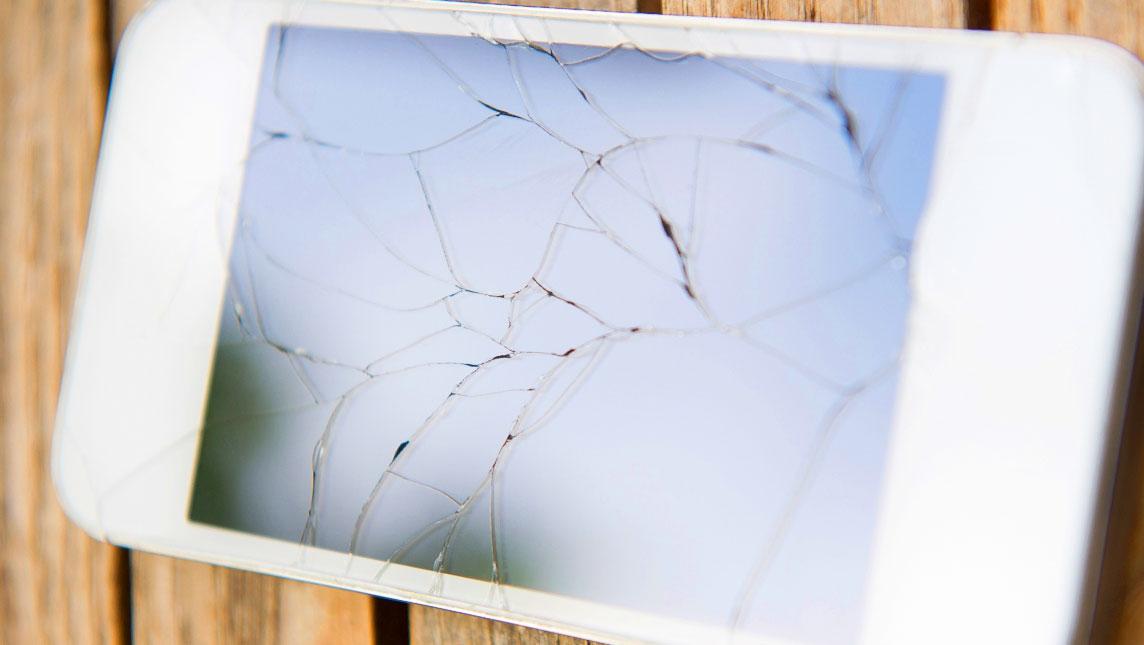 Cracked smart phone