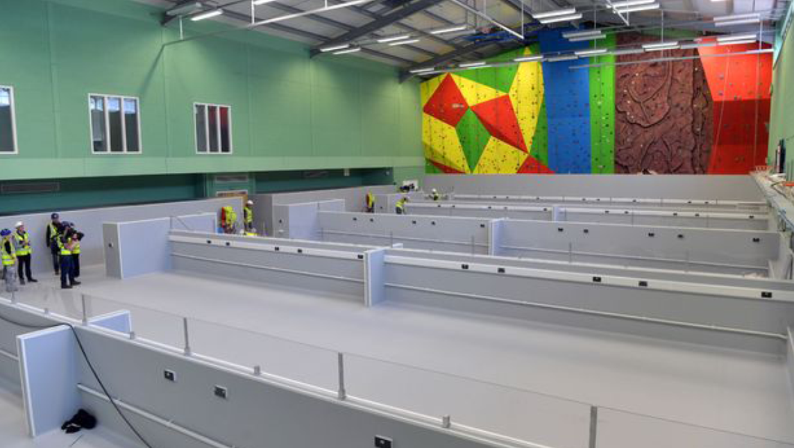Transforming Llandarcy Academy of Sport (part of NPTC Group of Colleges) into a field hospital