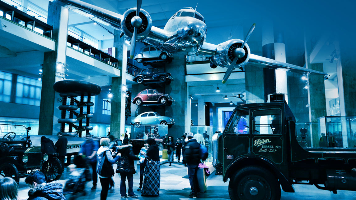 Visitors at the London Science Museum