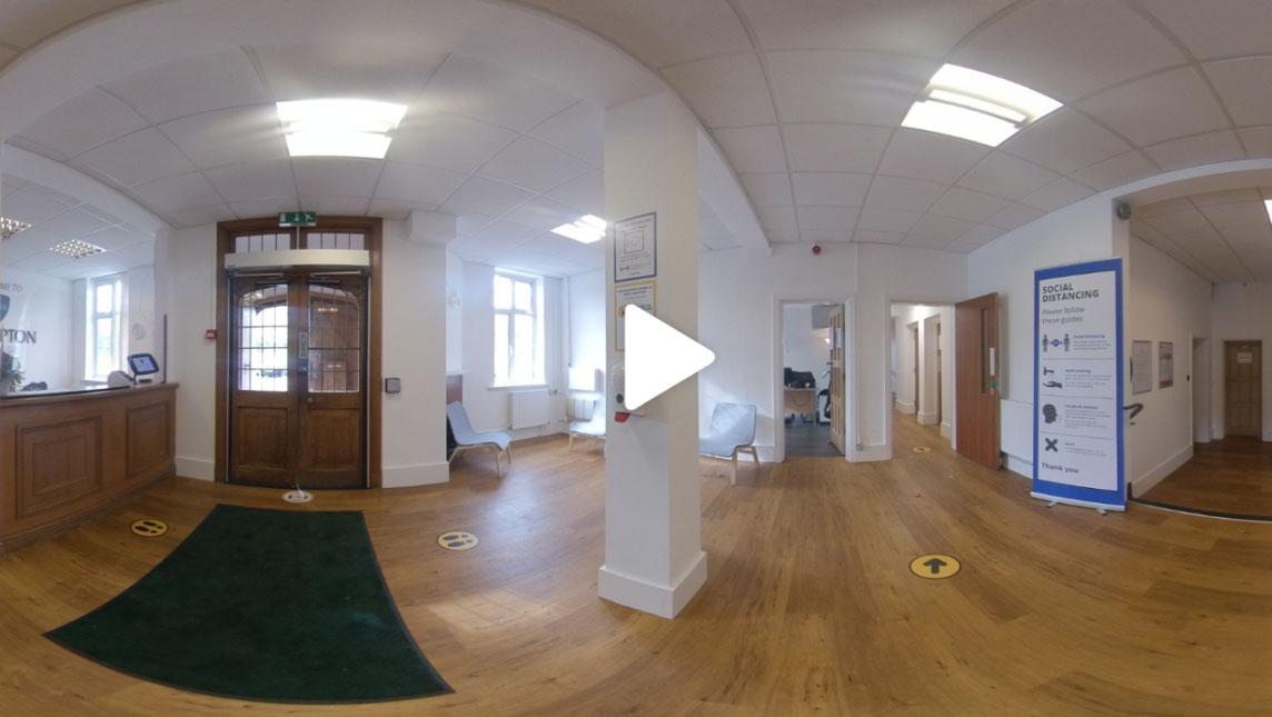 Reception of Plumpton College using VR alternatives