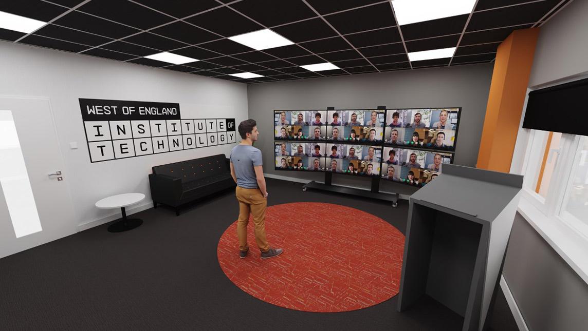 A screen capture of Weston College's Virtual classroom