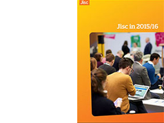 Jisc in 2015/16 front cover