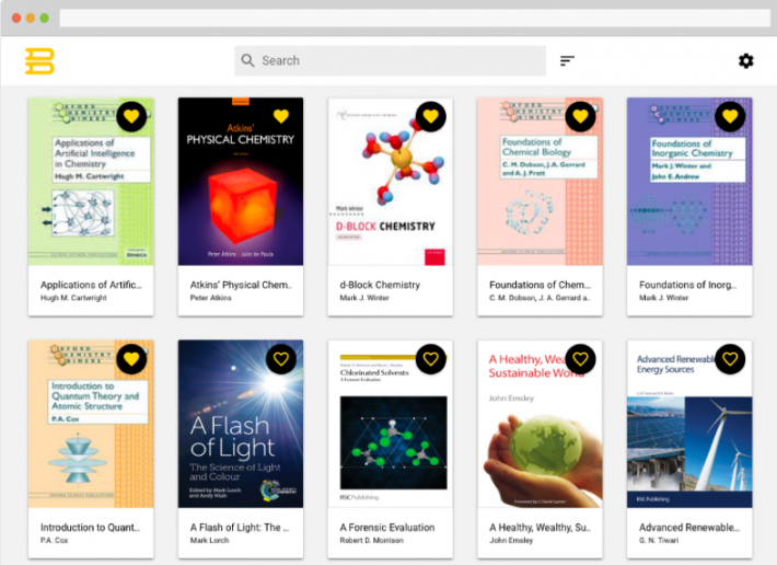 Bibliotech platform library screenshot