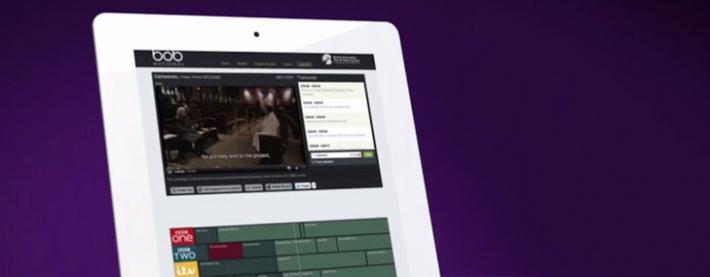 BoB on iPad (still from BoB National showreel)