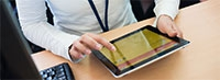 Tablet in a classroom