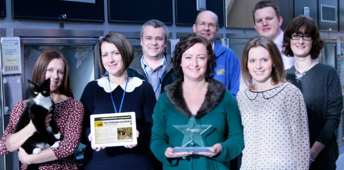 Cats Protection team award winners