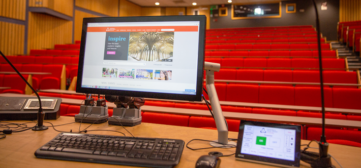 Lecture theatre at Canterbury Christ Church University