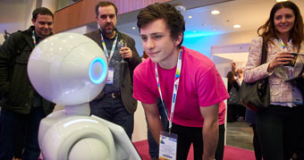 Pepper the robot at Digifest 2017