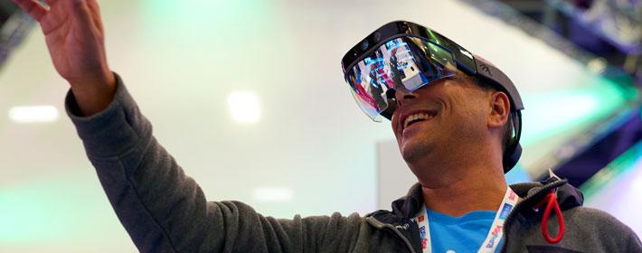 HoloLens headset at Digifest 2018