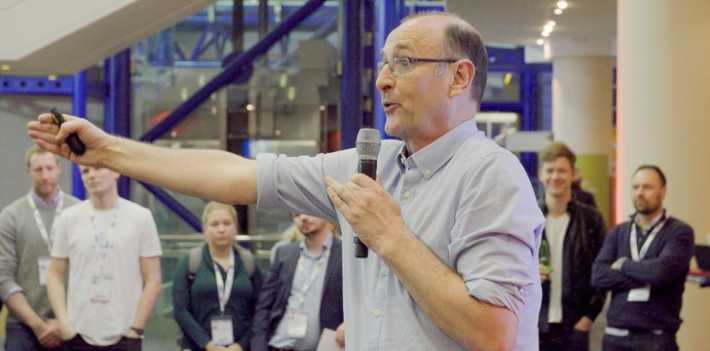 Wildfire CEO Donald Clark presenting at Digifest 2017
