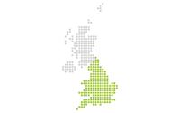 Map showing Jisc England region