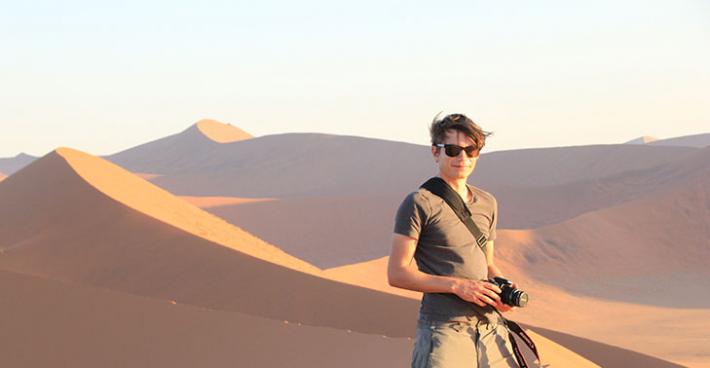 Finn Illsley-Kemp in the desert