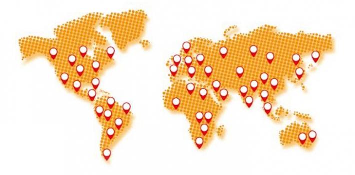 Open access week - world map