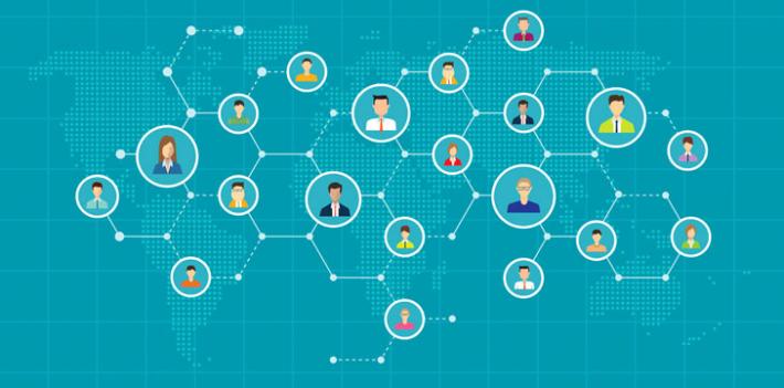 Network map illustration