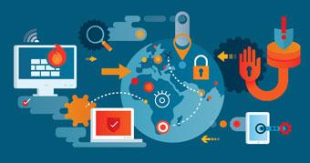 Network security illustration