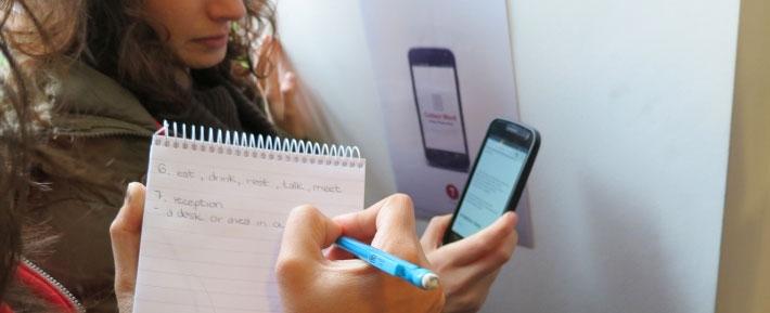 EFL students on NFC scavenger hunt