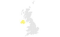 Map showing Jisc Northern Ireland region