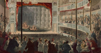 Illustration of the Sadler's Wells Theatre, London 1809