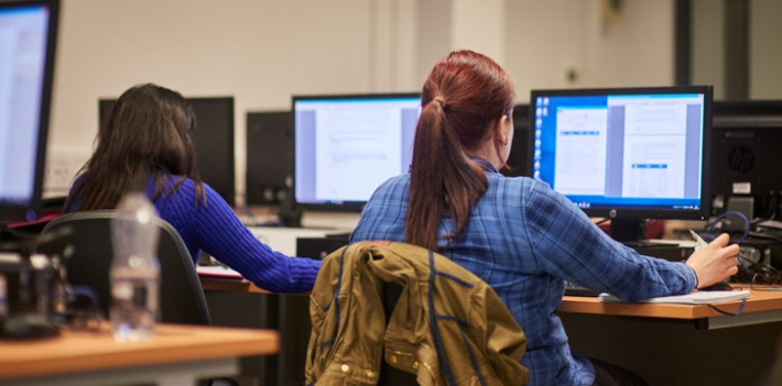 Students working at North Lindsey College