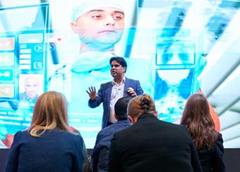 Shafi Ahmed presenting at Digifest 2018