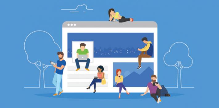 Social media network illustration
