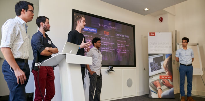 Know it Wall team at Jisc Summer of Student Innovation pitch day 2016