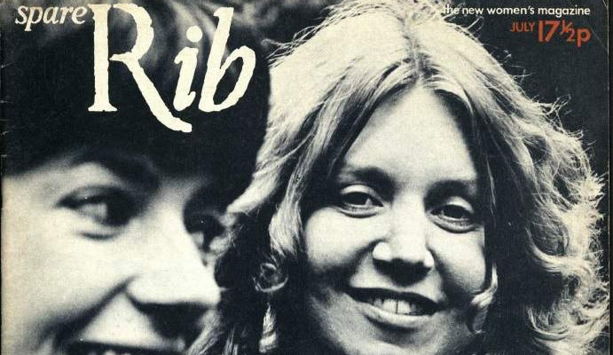 Women Smiling: Front cover Issue 1 July 1972. The Spare Rib launch issue