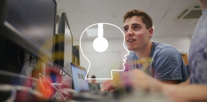 Students at the University of Bath coding with Arduino (includes podcast graphic)