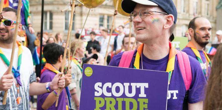 Tim Kidd at Birmingham Pride