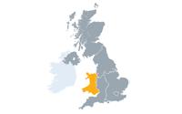 Map showing Jisc Wales nation